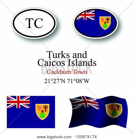 Turks And Caicos Islands Icons Set