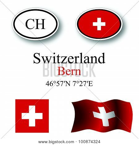 Switzerland Icons Set