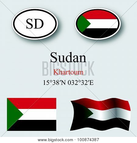 Sudan Icons Set