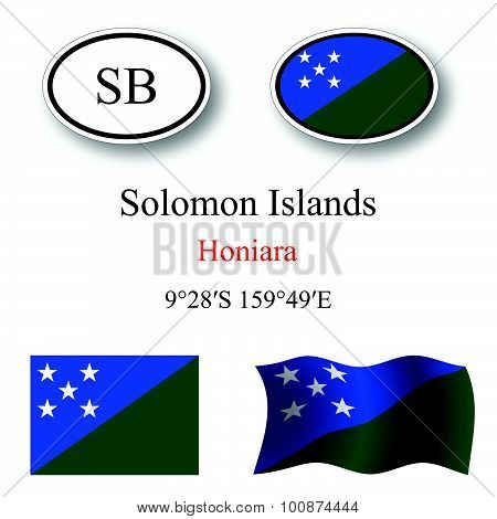 Solomon Islands Icons Set
