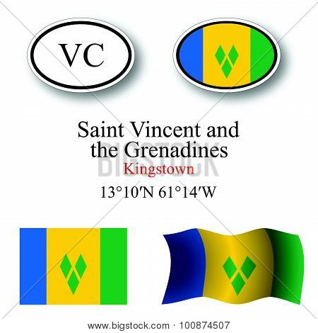 Saint Vincent And The Grenadines Icons Set