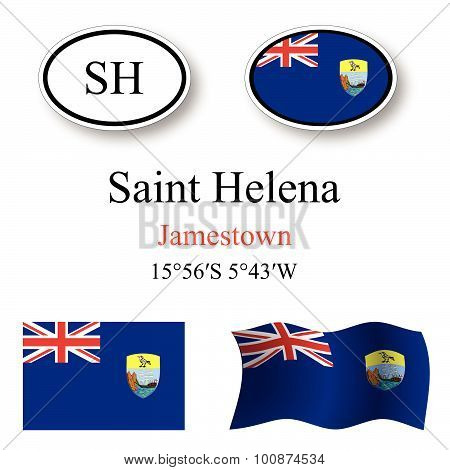 Saint Helena Icons Set