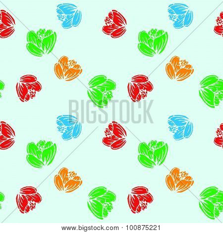 Flowers Colorful Pattern