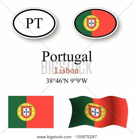 Portugal Icons Set
