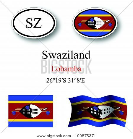 Swaziland Icons Set