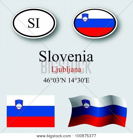 Slovenia Icons Set