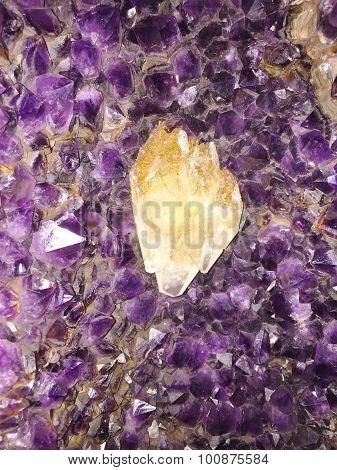 Amethyst rough gem