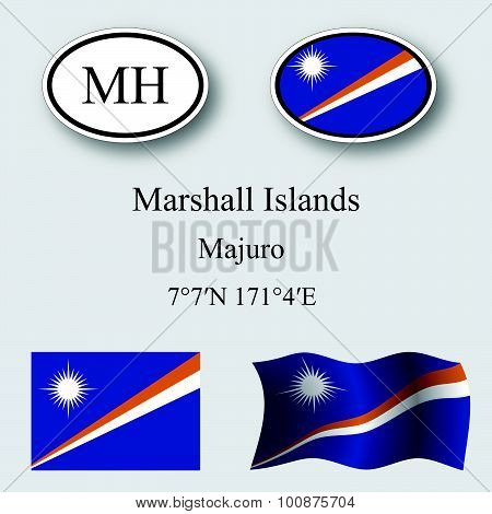 Marshall Islands Icons Set