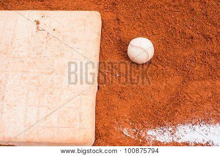 Baseball On Baseball Field