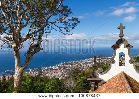 View of Funchal from the Monte. Madeira Island, Portugal.