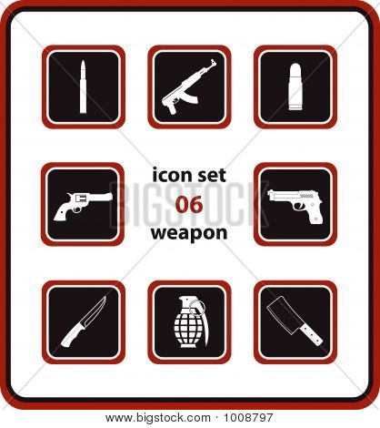 Vector Icon Set 06: Weapon