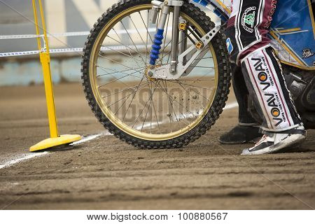 Front Wheel Of Motorcycle. Before Start