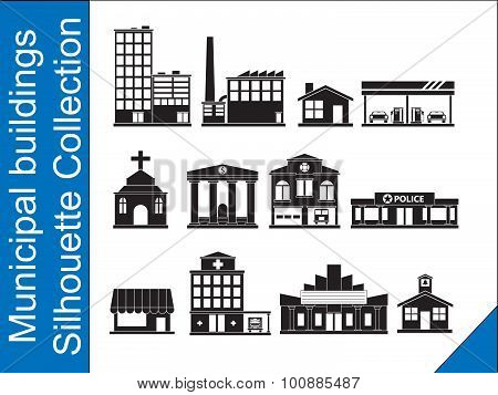 Municipal buildings Silhouette Collection