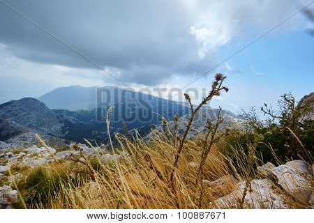 Nature Park Biokovo on Dalmatian coast near Makarska Riviera in Croatia