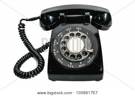 Vintage Rotary Dial Phone Isolated