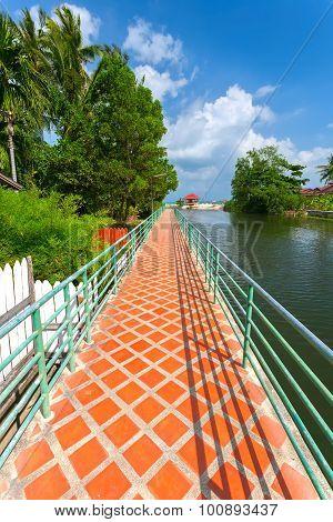 Bridge, River, Park