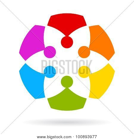Team abstract icon