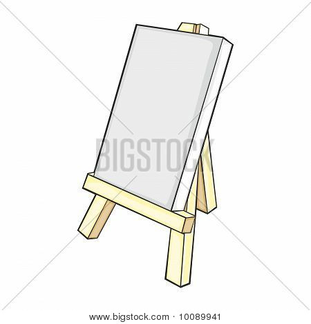 isolated easel