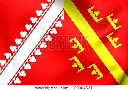 Flag Of Alsace (old), France.