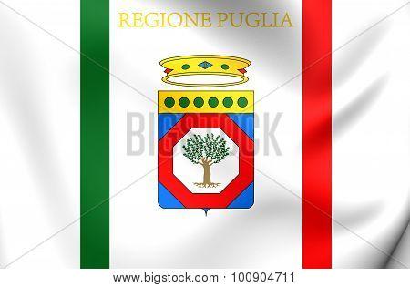 Flag Of Apulia Region, Italy.