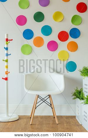 White Chair And Color Spots