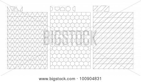 Blocks Cutter Picture Template Puzzle Vector