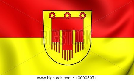 Flag Of Boblingen City, Germany.