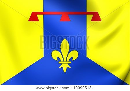 Flag Of Bouches-du-rhone Department, France.