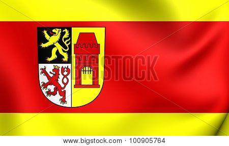 Flag Of Kerpen City (north Rhine-westphalia), Germany.