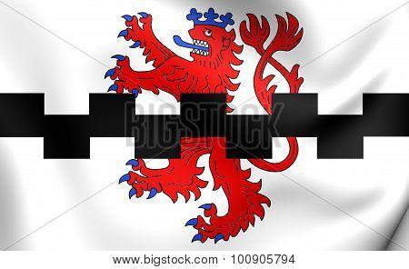 Flag Of Leverkusen City (north Rhine-westphalia), Germany.