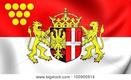Flag Of Neuss City (north Rhine-westphalia), Germany.