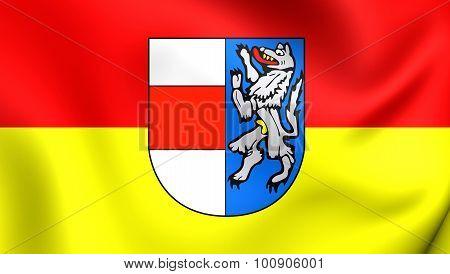 Flag Of Sankt Poelten City, Austria.