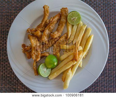 Fied Calamari With Fries