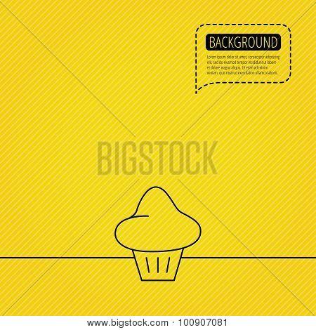 Brioche icon. Bread bun sign.
