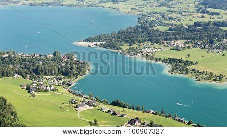 Wolfgangsee - Aerial Summer View