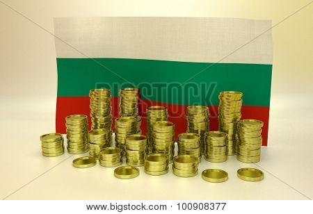 finance concept with Bulgarian flag