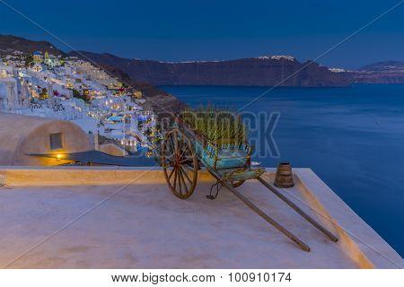 Santorini, Greece - Oia view at night