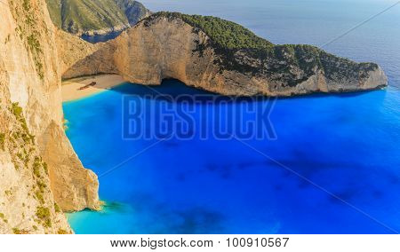 Shipwreck bay, Navagio - Zakynthos, Greece - The world famous, amazing beach