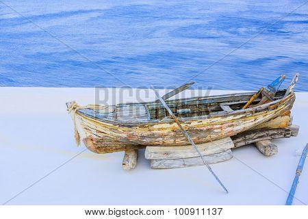 Old boat, Santorini, Greece