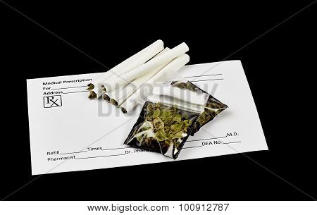 Rolled Prescription Marijuana