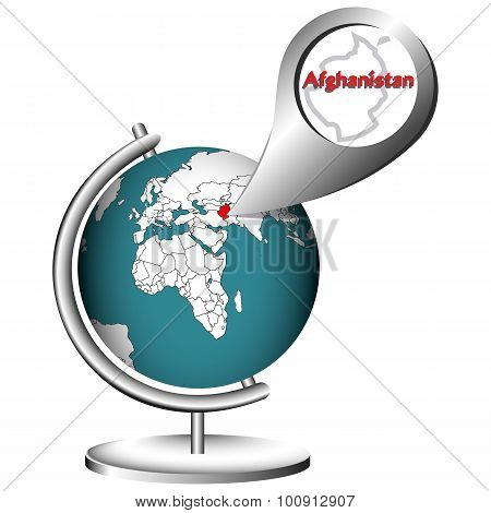 Illustration Vector Graphic Globe Afghanistan
