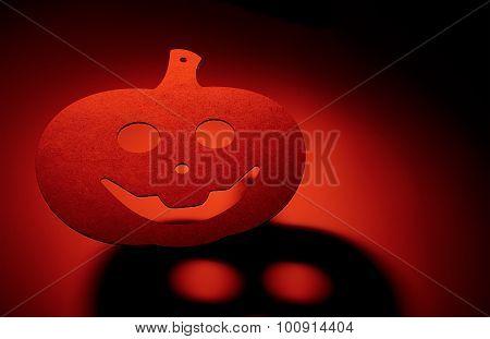 Halloween Pumpkin With Terrible Shadow