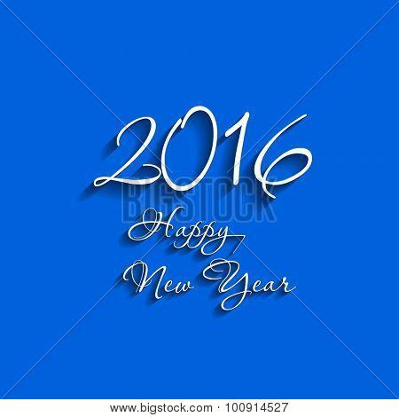 Happy new year card 2016