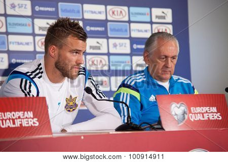 Andriy Yarmolenko With Coach Mykhailo Fomenko