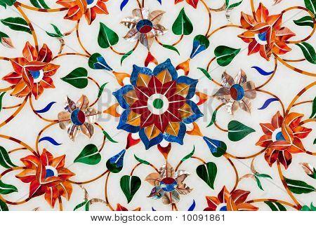 Pietra Dura Lotus