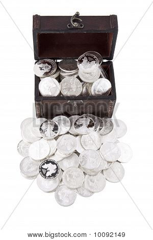 Case Full Of Silver Coins