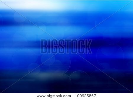 Abstract Blue Defocused Background. Vintage Colors. Deep Blue.