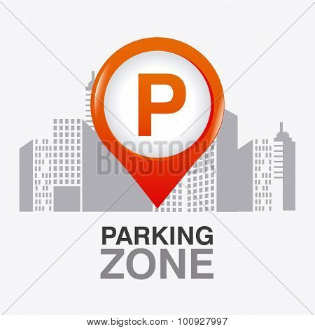 Parking zone graphic design