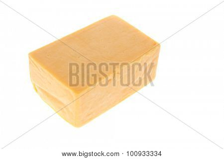 aged italian deli fresh cheddar cheese isolated over white background