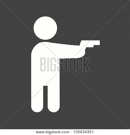 Holding pistol